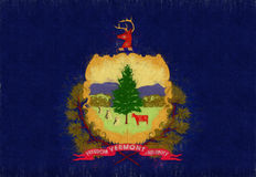Flag of Vermont Grunge Stock Image