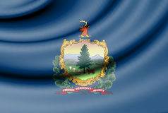 Flag of Vermont, USA. Royalty Free Stock Images