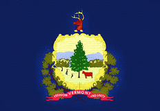 Flag of Vermont  Wall Stock Images
