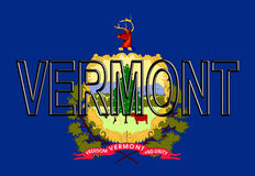Flag of Vermont Word Royalty Free Stock Photo