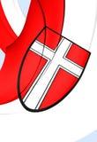 Flag of Vienna, Austria. 3D Flag of Vienna, Austria. Close Up royalty free illustration