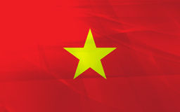 Flag of vietnam Royalty Free Stock Images