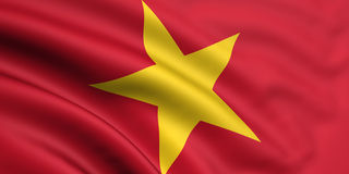 Flag Of Vietnam. 3d rendered and waving flag of vietnam Royalty Free Stock Photos