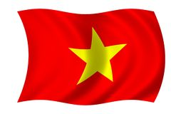 Flag of Vietnam royalty free stock photography