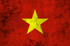 Flag of the Vietnam close up Royalty Free Stock Photography