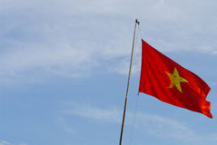 Flag of Vietnam on blue sky Royalty Free Stock Images