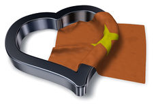 Flag of vietnam and heart Royalty Free Stock Photo