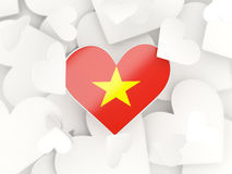 Flag of vietnam, heart shaped stickers Royalty Free Stock Photography