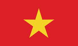 Flag of vietnam  icon illustration Stock Photos