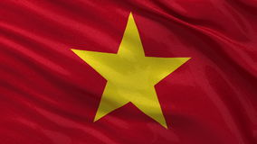 Flag of Vietnam seamless loop Stock Photo