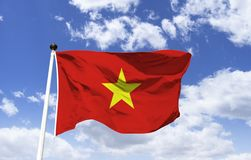 Flag of Vietnam, symbol of socialism. Flag of Vietnam, largest symbol of the official representation of the country, whose name is: `The red flag with bright stock images