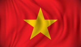 Flag of Vietnam. Vector illustration Stock Photo