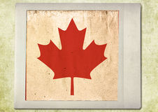 Flag of vintage instant photo Stock Image
