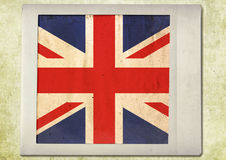 Flag of vintage instant photo Royalty Free Stock Image
