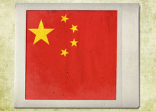 Flag of vintage instant photo Royalty Free Stock Images