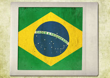 Flag of vintage instant photo Royalty Free Stock Photography