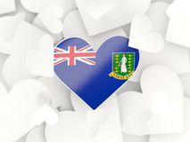 Flag of virgin islands british, heart shaped stickers Stock Photography