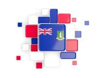 Flag of virgin islands british, mosaic background Royalty Free Stock Photography