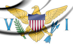 Flag of Virgin Islands of United States. Royalty Free Stock Photo