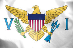 Flag of Virgin Islands of United States. Stock Photos