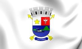Flag of Vitoria City Espirito Santo, Brazil. Stock Images
