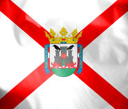 Flag of Vitoria-Gasteiz, Basque Country. Stock Photo