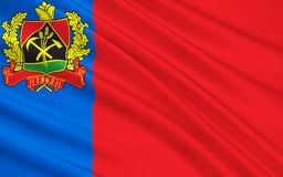 Flag of Voronezh Oblast, Russian Federation. The flag subject of the Russian Federation - Kemerovo region, Siberian Federal District stock illustration