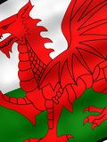 Flag of Wales. National flag of the Wales Royalty Free Stock Image
