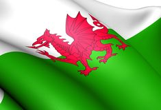 Flag of Wales Royalty Free Stock Photo