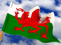 Flag. Wales. 3d Very beautiful three-dimensional illustration, figure Royalty Free Stock Photos