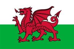 Flag of Wales. (Y Ddraig Goch Stock Photography