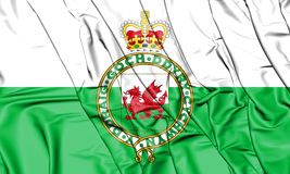 Flag of the Wales 1953-1959. 3D Illustration. Royalty Free Stock Photography