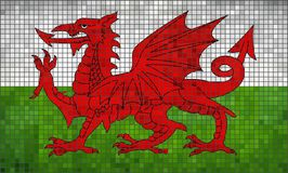 Flag of Wales. Illustration Royalty Free Stock Images