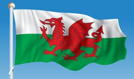 Flag of Wales. Vector illustration Stock Photos