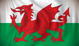 Flag of Wales. Vector illustration Stock Image