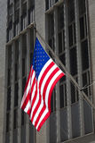 Flag in Wall Street Stock Photo