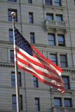 Flag in Wall Street Royalty Free Stock Photo