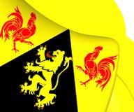 Flag of Walloon Brabant, Belgium. Stock Photo