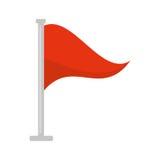 Flag warning danger alert. Vector illustration eps 10 vector illustration