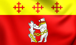 Flag of Warwickshire County, England. Royalty Free Stock Photos