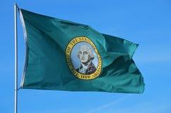 Flag of Washington. State Flag of Washington USA Stock Image