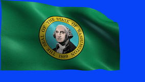 Flag of Washington, WA, Olympia, Seattle, November, 11 1889, State of The United States of America, USA state - LOOP stock video