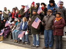 Flag Waving Crowd Royalty Free Stock Photography