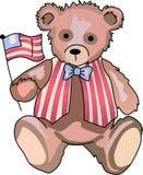 FLAG WAVING TEDDY Royalty Free Stock Image