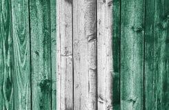 Flag on weathered wood Royalty Free Stock Photo