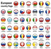 Flag web buttons Stock Photo