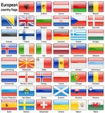 Flag web buttons Royalty Free Stock Image