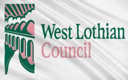 Flag of West Lothian council of Scotland, United Kingdom of Great Britain vector illustration