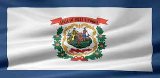 Flag of West Virginia. A very large version of the flag of West Virginia Stock Photos