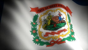 Flag of West Virginia Stock Photography